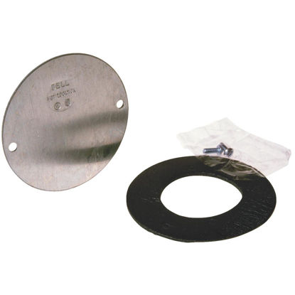 Picture of Bell 4 In. Blank Gray Aluminum Weatherproof Electrical Round Box Cover