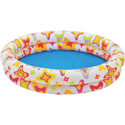 Picture of Intex 10 In. D. x 48 In. Dia. Multi-Colored Vinyl Inflatable Circle Fun Pool