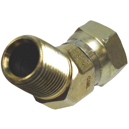 Picture of Apache 1/2 In. Male Pipe x 1/2 In. Female Pipe Swivel 45 Deg. Hydraulic Hose Adapter