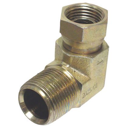 Picture of Apache 1/2 In. Male Pipe x 1/2 In. Female Pipe Swivel 90 Deg. Hydraulic Hose Adapter