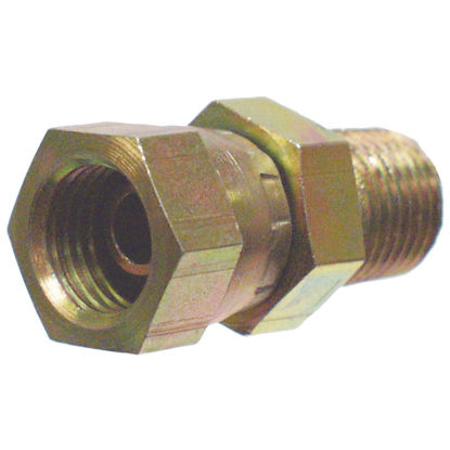 Picture of Apache 1/2 In. Male Pipe x 1/2 In. Female Pipe Swivel Straight Hydraulic Hose Adapter