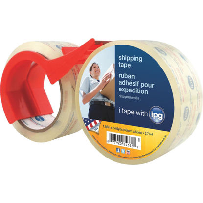 Picture of IPG 1.88 In. X 54.6 Yd. Clear Film Carton Sealing Tape (2 Pack)