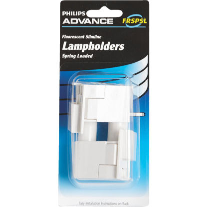 Picture of Philips Spring Loaded Slim-Line Tombstone Single Pin T8/T12 Fluorescent Lampholder (2-Pack)