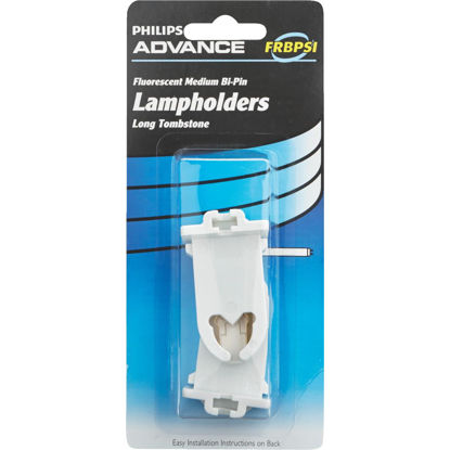 Picture of Philips Long Tombstone Medium Bi-Pin T8/T12 Fluorescent Lampholder (2-Pack)