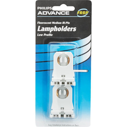 Picture of Philips Low Profile Tombstone Medium Bi-Pin T8/T12 Fluorescent Lampholder (2-Pack)