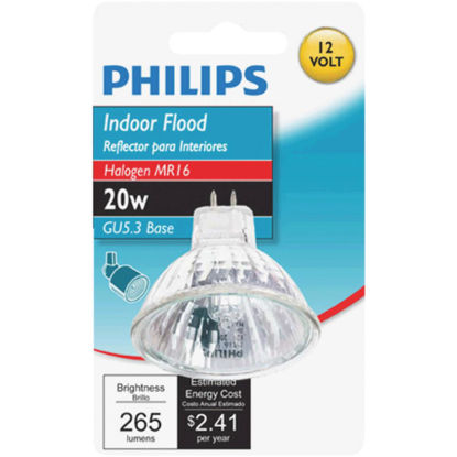 Picture of Philips 35W Equivalent Clear GU4 Base MR11 Halogen Floodlight Light Bulb