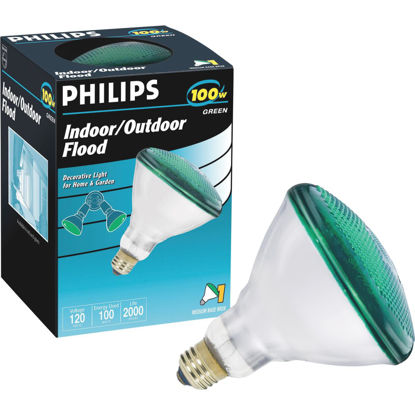 Picture of Philips 100W Green Medium BR38 Incandescent Floodlight Light Bulb