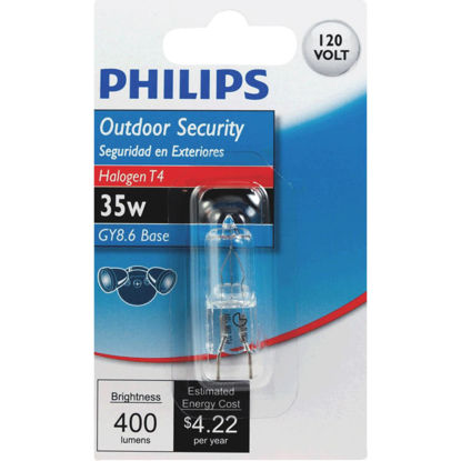 Picture of Philips 35W 120V Clear GY8.6 Base T4 Halogen Special Purpose Light Bulb