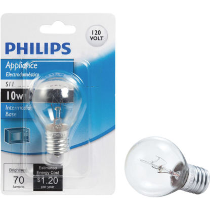 Picture of Philips 10W Clear Intermediate Base S11 Incandescent Exit Sign Light Bulb