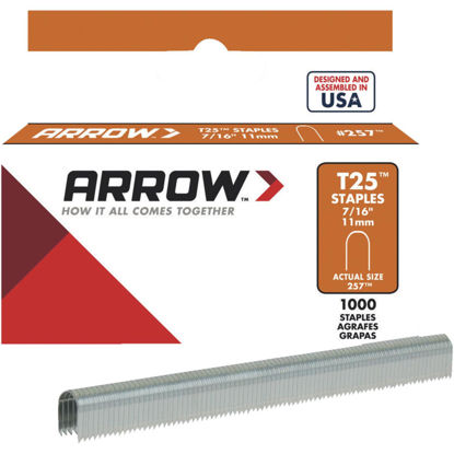 Picture of Arrow T25 Round Crown Cable Staple, 7/16 In. (1000-Pack)