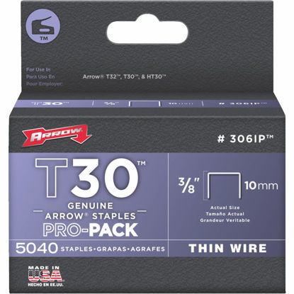 Picture of Arrow T30 Pro-Pack Thin Wire Staple, 3/8 In. (5040-Pack)