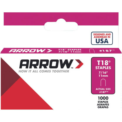 Picture of Arrow T18 Round Crown Cable Staple, 7/16 In. (1000-Pack)