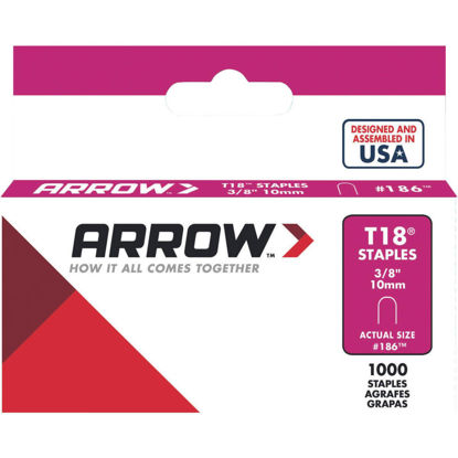 Picture of Arrow T18 Round Crown Cable Staple, 3/8 In. (1000-Pack)