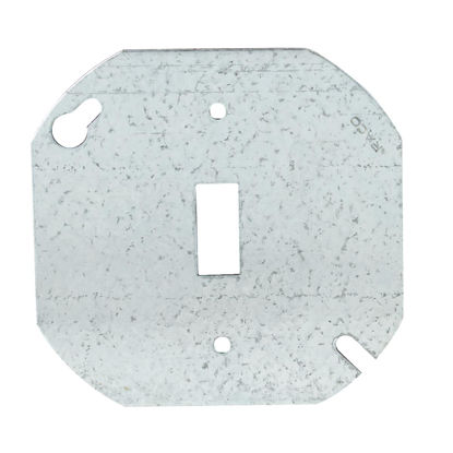 Picture of Hubbell 4 In. Single Toggle Switch Silver Round Box Cover
