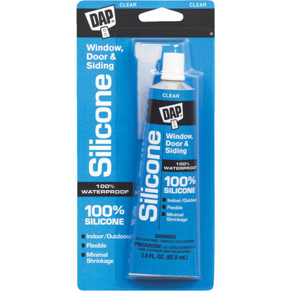 Picture of DAP 2.8 Oz. Window, Door & Siding Silicone Sealant, Clear