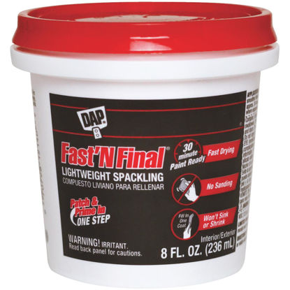 Picture of DAP Fast 'N Final 1/2 Pt. Lightweight Latex Patch & Prime Spackling