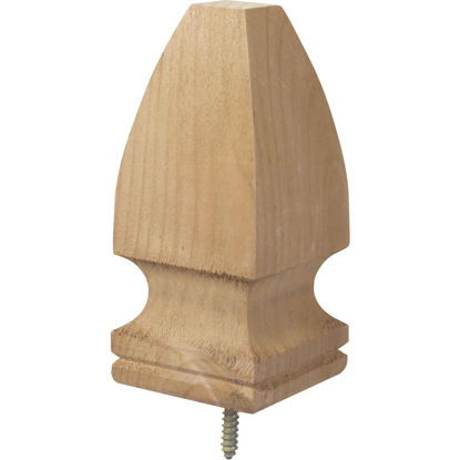Picture of ProWood 3-1/8 In. x 6-3/4 In. Treated Wood Gothic Post Cap