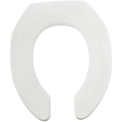 Picture of Mayfair Commercial STA-TITE Round Open Front White Toilet Seat