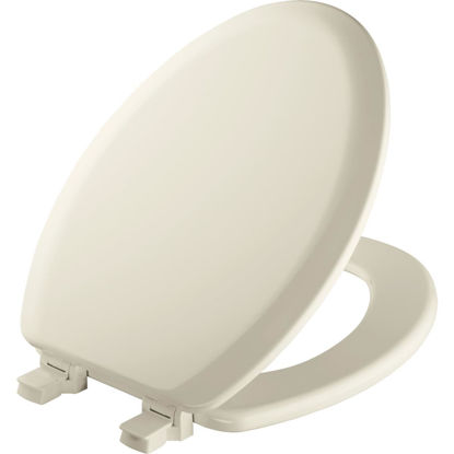 Picture of Mayfair Elongated Closed Front Biscuit Wood Toilet Seat