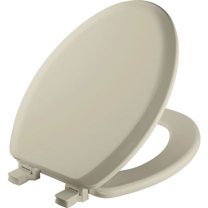 Picture of Mayfair Elongated Closed Front Bone Wood Toilet Seat