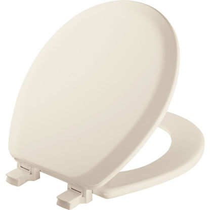 Picture of Mayfair Advantage Round Closed Front Biscuit Wood Toilet Seat