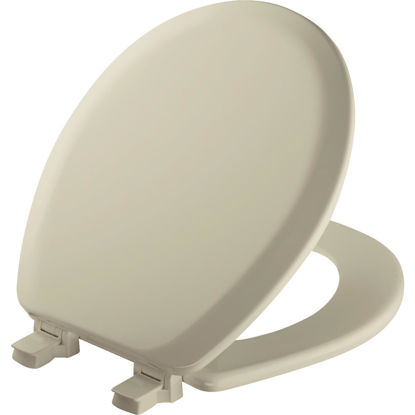 Picture of Mayfair Advantage Round Closed Front Bone Wood Toilet Seat