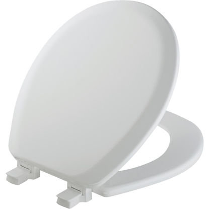 Picture of Mayfair Advantage Round Closed Front White Wood Toilet Seat