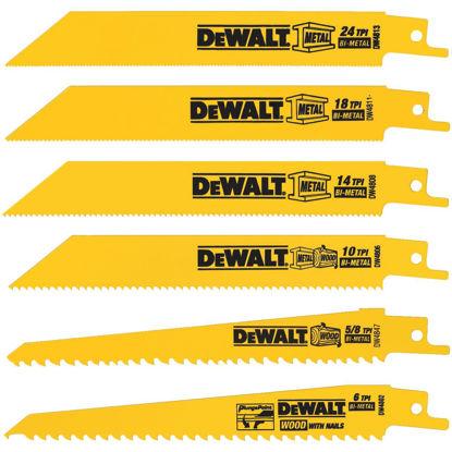 Picture of DeWalt 6-Piece Reciprocating Saw Blade Set
