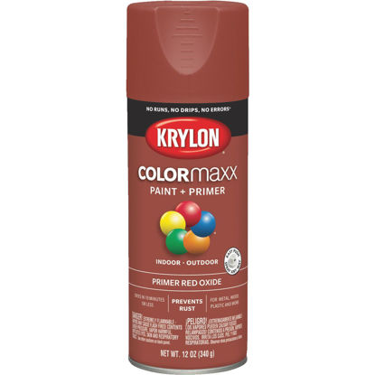 Picture of Krylon ColorMaxx Ruddy Brown 12 Oz. All-Purpose Spray Paint Primer