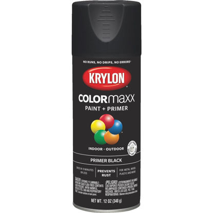 Picture of Krylon ColorMaxx Black 12 Oz. All-Purpose Spray Paint Primer