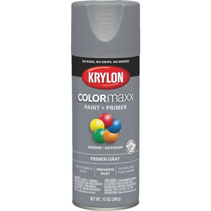 Picture of Krylon ColorMaxx Gray 12 Oz. All-Purpose Spray Paint Primer