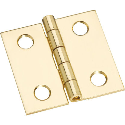 Picture of National 1 In. x 1 In. Brass Medium Decorative Hinge (4-Pack)