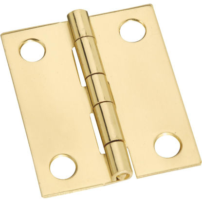 Picture of National 1-1/2 In. x 1-1/4 In. Brass Medium Decorative Hinge (2-Pack)