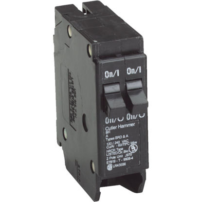 Picture of Eaton BR 15A/15A Double-Pole Standard Trip Duplex Circuit Breaker