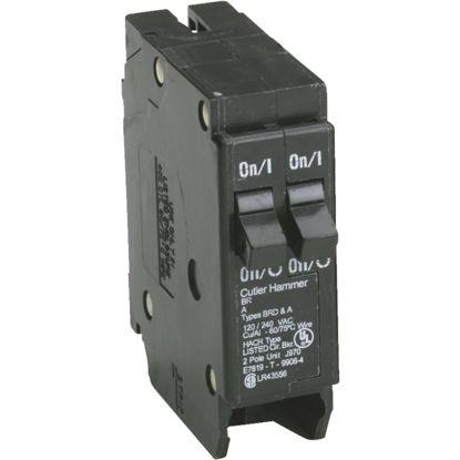 Picture of Eaton BR 20A/20A Double-Pole Standard Trip Duplex Circuit Breaker