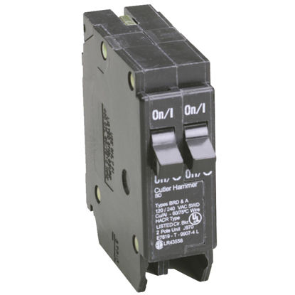 Picture of Eaton BD 15A/15A Double-Pole Standard Trip Duplex Circuit Breaker