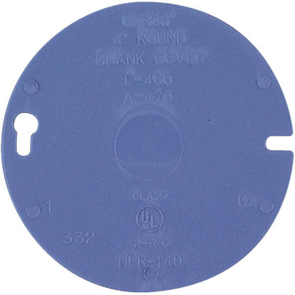 Picture of Carlon 4 In. Blank Blue Round Box Cover