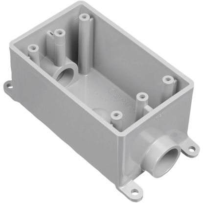 Picture of Carlon 1-Gang PVC Molded Rigid Non-Metallic Dead-End Termination Wall Box