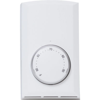 Picture of Cadet White Single 22A Electric Baseboard Heater Thermostat