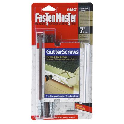 Picture of Fastenmaster 7 In. Universal Brown Gutter Screw & Ferrule, 10-Pack