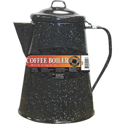 Picture of Columbian GraniteWare Porcelain Enamel 100 Oz. 24 Cup Black Coffee Boiler