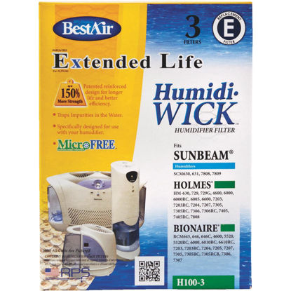 Picture of BestAir Extended Life Humidi-Wick H100 Humidifier Wick Filter (3-Pack)