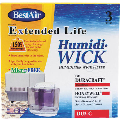 Picture of BestAir Extended Life Humidi-Wick DU3 Humidifier Wick Filter (3-Pack)