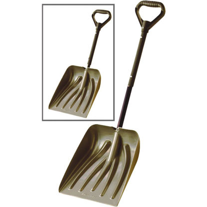 Picture of Suncast 11 In. Graphite Emergency Automotive Snow Shovel with 36 In. Steel Telescoping Handle