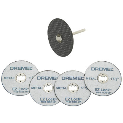 Picture of Dremel EZ Lock Mandrel and Cut-Off Wheel Starter Rotary Tool Accessory Kit (5-Piece)