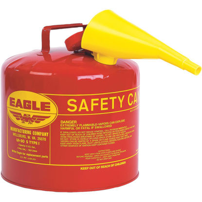 Picture of Eagle 5 Gal. Type I Galvanized Steel Gasoline Safety Fuel Can, Red