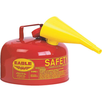 Picture of Eagle 2 Gal. Type I Galvanized Steel Gasoline Safety Fuel Can, Red