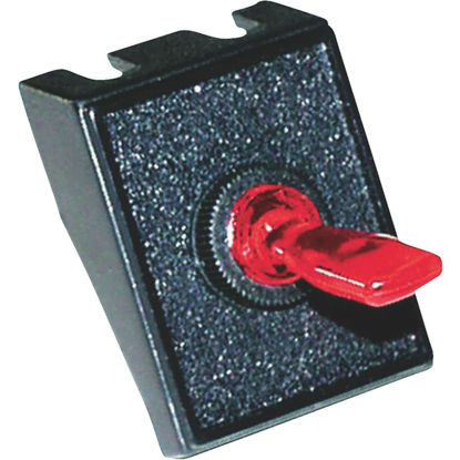 Picture of Calterm Red Male Blade 20A Toggle Switch & Panel Combination