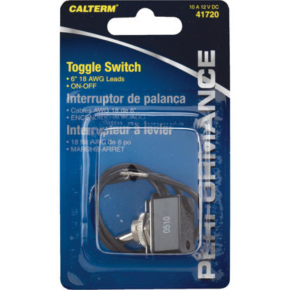 Picture of Calterm Pre-Wired Metal Wire Ends 10A Toggle Switch