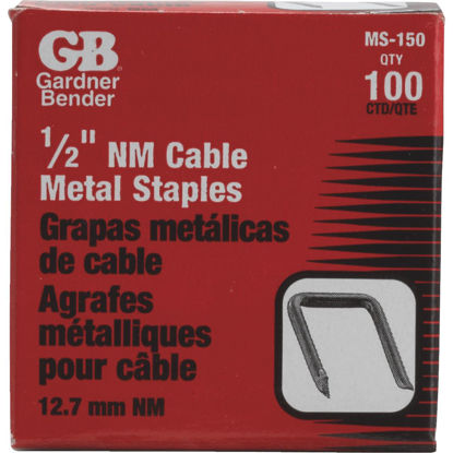 Picture of Gardner Bender 1/2 In. x 15/16 In. Carbon Steel Cable Staple (100-Count)